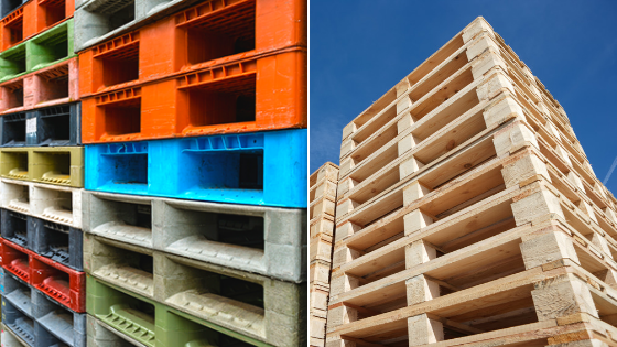 Plastic vs Wooden Pallets
