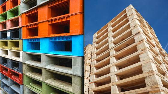 Plastic vs Wooden Pallets